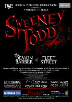 P&P Productions present Sweeney Todd, Lighthouse, Poole - May 2013